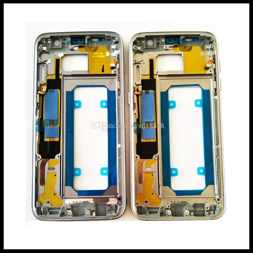 20 UNIDS Original Reemplazo de Metal Caja Bisel Medio Marco para Samsung Galaxy S7 G930F S7 Edge G935F Vivienda con Piezas Pequeñas libre de DHL