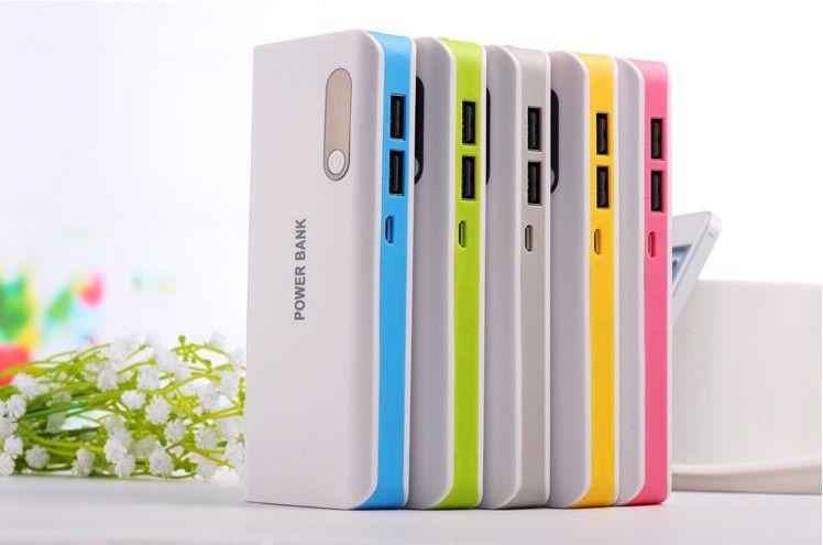 Power Bank 20000mAh powerbank Внешний аккумулятор для сотового телефона со светодиодной подсветкой с розничной упаковке Бесплатная доставка