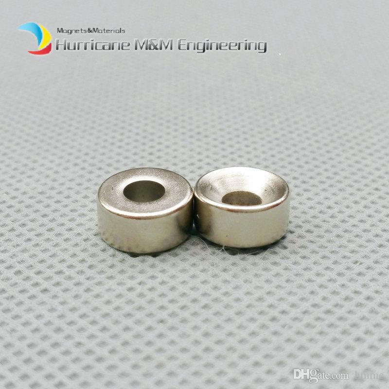 600pcs Countersunk Hole Magnet about Diameter 10x5mm Thick M4 Screw Countersunk Hole Neodymium Rare Earth Permanent Magnet