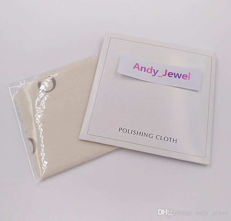 Authentic Commercio all'ingrosso 925 sterling argento panno di lucidatura fit in stile pandora gioielli in stile charms perline braccialetti pulizia 10x10cm regalo di imballaggio