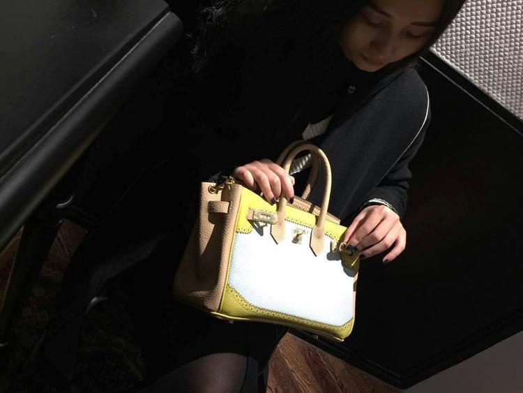 Handbag Genuine Leather Women\`s Litchi Cowhide Messenger Bag Famous Designer Shoulder Crossbody Tote 2016 Luxury Ladies Bolsa 33