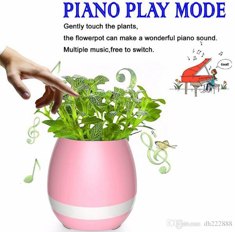2019 2017 Bluetooth Smart Music Flower Pots Intelligent Real Plant Touch  Play Flowerpot Colorful Light Long Time Play Bass Speaker Night Light From