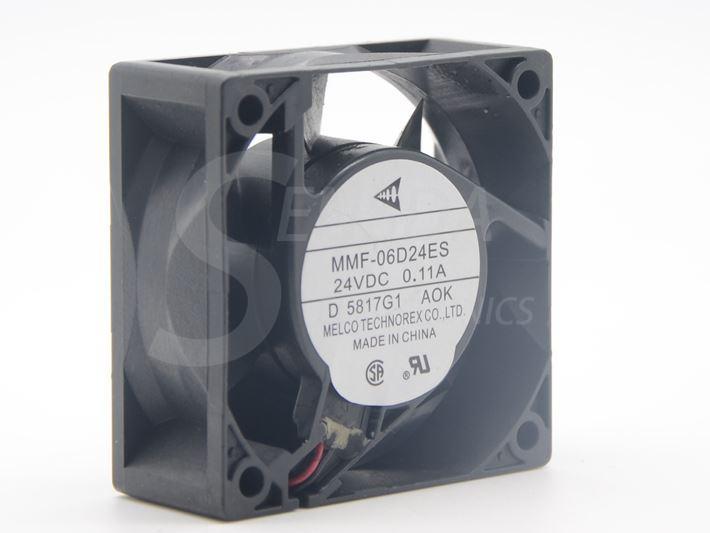 새로운 Melco MMF-06D24ES AOK For Yaskawa 팬 6025 60mm 6cm DC24V 0.11A 서버 인버터 냉각 팬