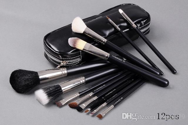 NUEVA buena calidad superventas cepillo de maquillaje 12 piezas conjunto bolsa profesional cepillo