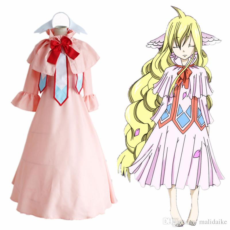 Malidaike Anime Women's Fairy Tail Cosplay Costume Mavis Vermilion Suit Complete Suit Super Halloween Lolita Style Dress Up