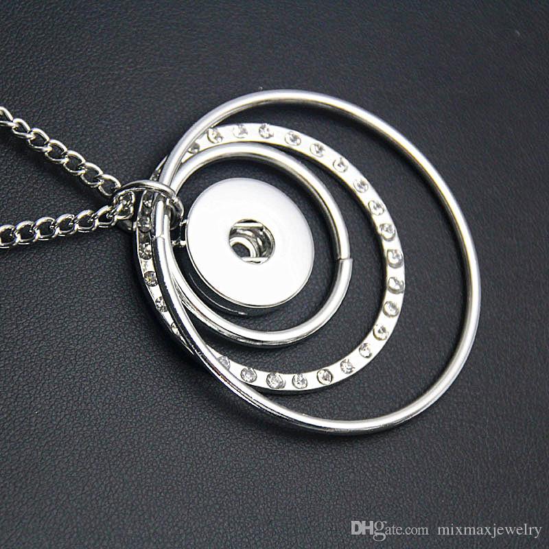 nuovi 10 pezzi noosa donne argento zenzero 18mm 20mm bottoni a pressione ciondoli pezzo cerchio collane ciondolo lotti all'ingrosso
