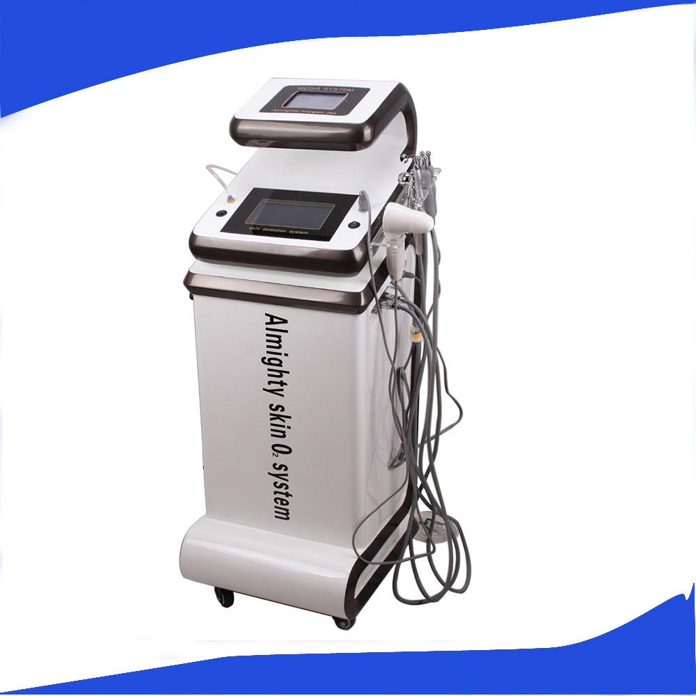 متعدد الوظائف الجلد تحليل المياه الأكسجين الحقيقي آلة قشر جيت / الأكسجين تعالى جيت / الأكسجين الحقيقي آلة علاج حب الشباب الوجه