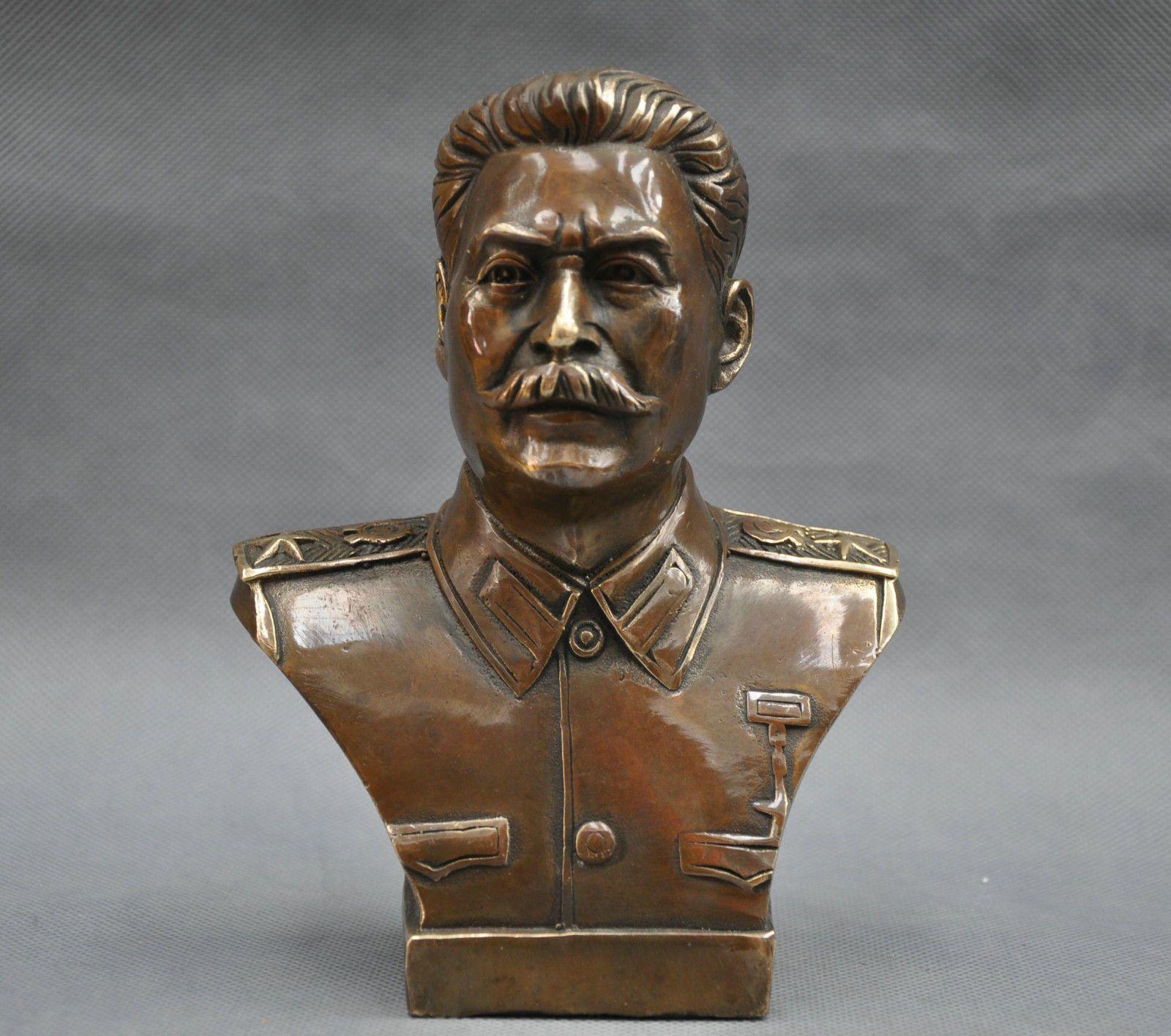 6 '' Rus Lideri Joseph Stalin Büstü Bronz Heykeli