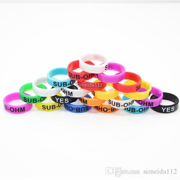Colorful Vape Band 22 * 7mm anelli di silicone sigaretta elettronica ecig in gomma per RDA RTA atomizzatore Mods vaporizzatore serbatoio DHL LIBERA il trasporto