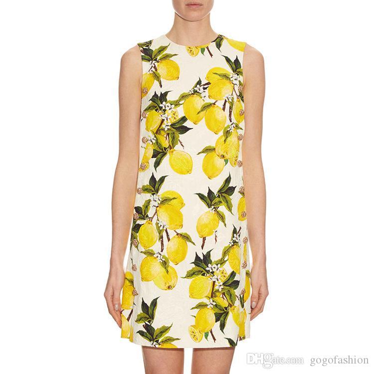 609 2019 Runway Button vestito da marca Abito stile stessi senza maniche girocollo Abbigliamento da donna di lusso Fashion Dress SH