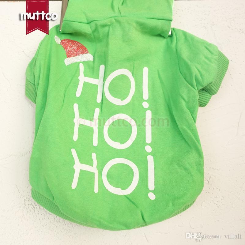 Wholesale pet clothes polyester cotton hohoho Christmas hat pet T-shirt unique teddy clothes spring/autumn clothing GYF-004