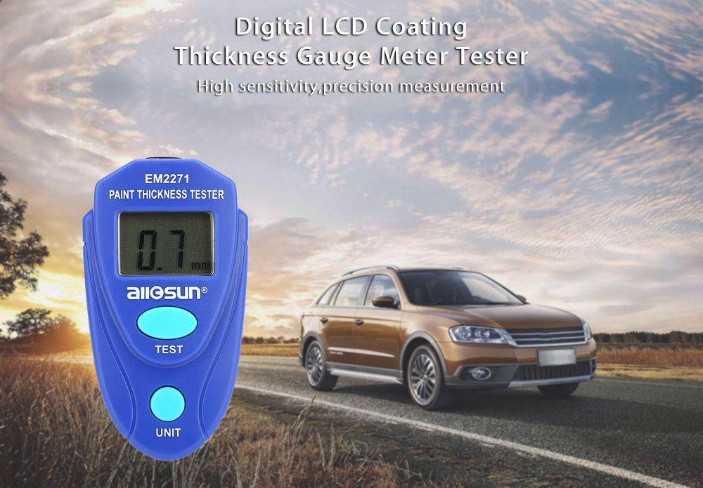 Толщина краски тестер цифровой толщиномер покрытия метр толщины автомобиля метр EM2271