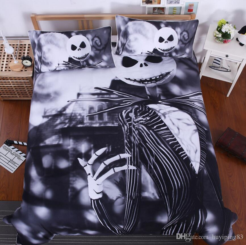 Black White Nightmare Before Christmas Bedding Set Qualified