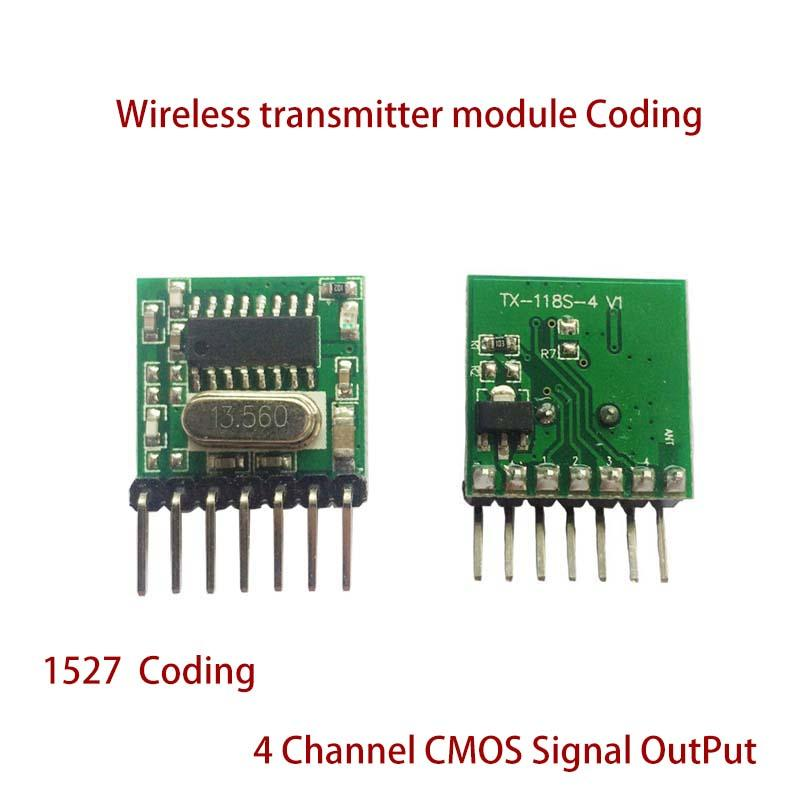 Mini Wireless 433Mhz RF Remote Control 1527 Learning Code Transmitter Module PV