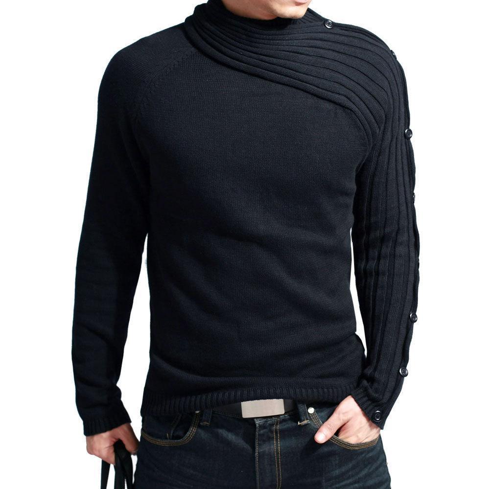 Toptan-2016 yeni marka sıcak satış adamın kazak kaliteli örme kazak ücretsiz kargo erkekler triko siyah balıkçı yaka lxy333