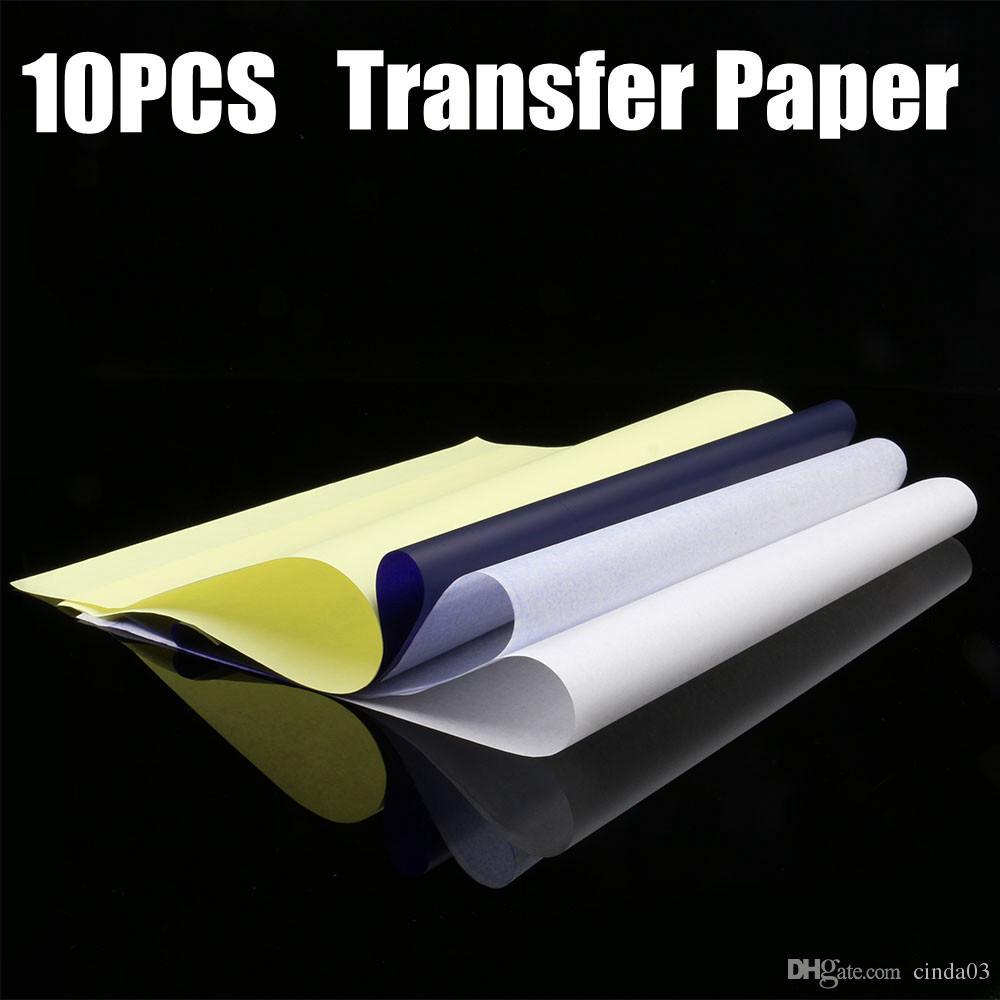 10 قطع الروح الوشم نقل ورقة a4 حجم الوشم ورقة الحرارية الاستنسل الكربون ناسخة ورقة الوشم التموين