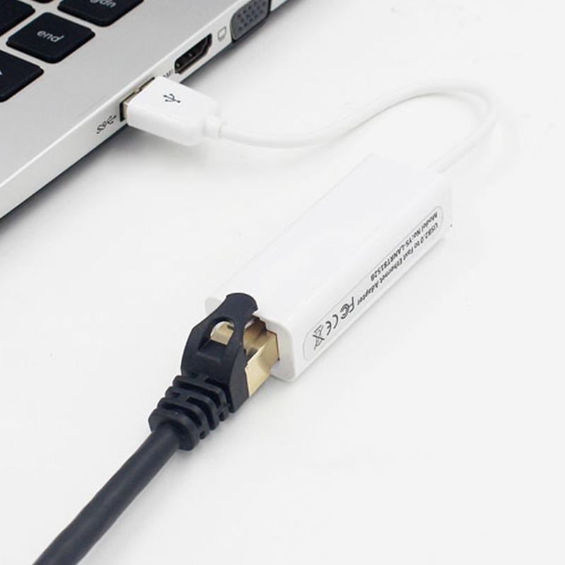 400 шт. USB 2.0 к сетевому адаптеру Ethernet RJ45 Сетевой адаптер LAN 10/100 Мбит / с для планшетных ПК с новой розничной коробкой