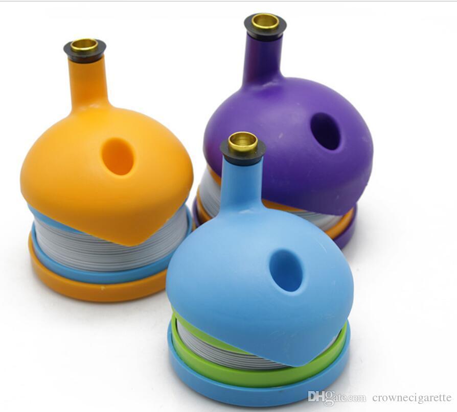 Bukket bong Bukket flexibler Flex-Kunststoff Pfeifen Tabakpfeife 91,5 * 110,5 mm Rauchzubehör Klon Originalität