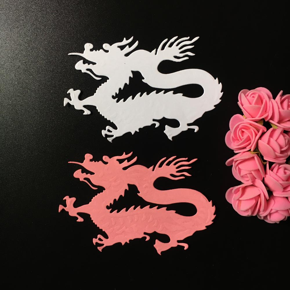 Dragon Metal DIY Cutting Dies Stencil Tarjeta de Scrapbook Álbum Papel Embossing Craft