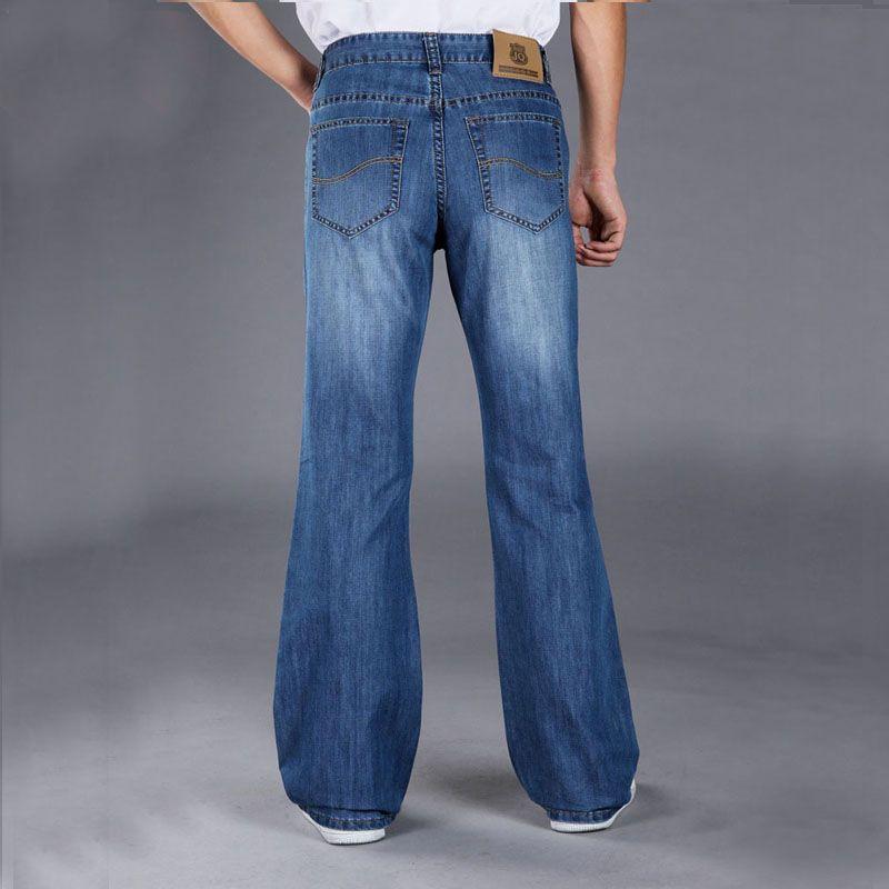 Évasés gros-2016 Mens Blue Jeans Pantalons longs Wide Leg Plus Size Flare Pants bootcut Jeans pour les hommes 27-38 MB16247