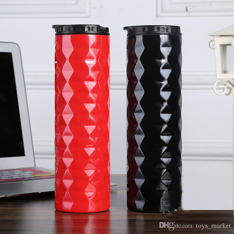 New Creative 500ml Diamond Cup Vacuum Insulated Car Mug Stainless Steel Water Bottles For Christmas Gift