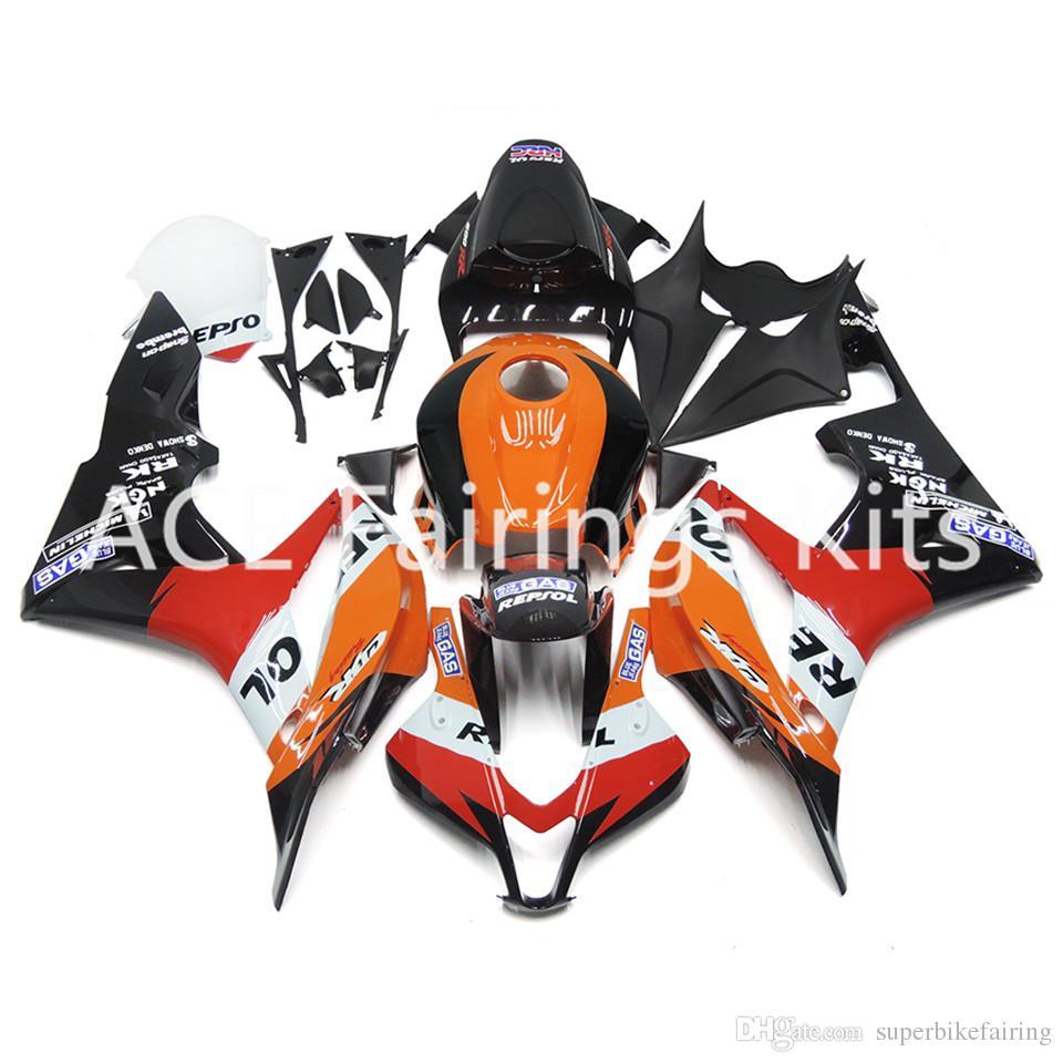 3 regali gratuiti Per Honda CBR600RR F5 07 08 CBR600RR 2007 2008 Injection ABS Kit carenatura giallo nero Bianco Rosso A25S