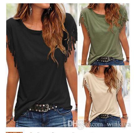 Softu Newest Fashion Fashion Nappa Casual Top Camicetta Solido O collo manica corta Camicie allentate Abbigliamento da donna stile europeo