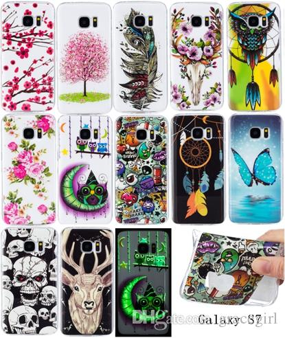 Glow in dark Flower Owl TPU Soft Case For Samsung Galaxy S9 PLUS S6 S7 Edge S5 A310 A510 G530 J310 J510 J710 J5 J7 Luminous Butterfly Cover