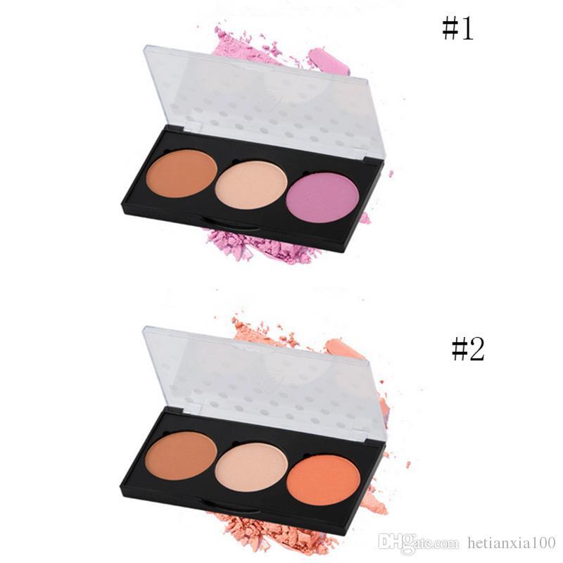 Multi-multi-função de maquiagem em pó paleta de contorno Destaque Sombra Sobrancelha Blush em um rosto em pó Estilo Base
