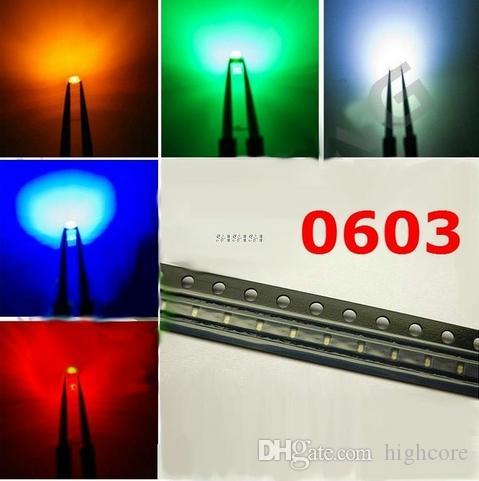 MISTURA SMD 0603 LED Diodo Vermelho / Verde / Azul / Amarelo / Cor Laranja