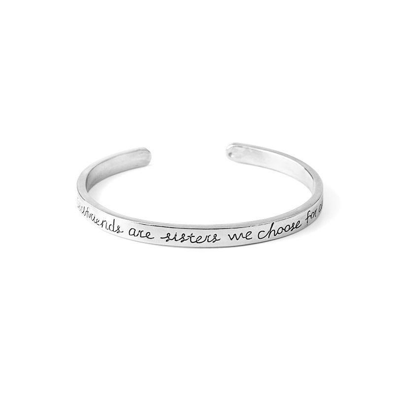 """""""Le amiche sono sorelle che scegliamo per noi stessi"""" Bracciali con braccialetti che aprono i braccialetti regolabili bijoux pulseras Gioielli da donna"""