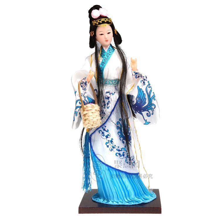 Pechino Tang Fang bambola di seta artigianato tradizionale regalo d'affari Arredamento Per La Casa decorazione quattro bellezza Xi Shi