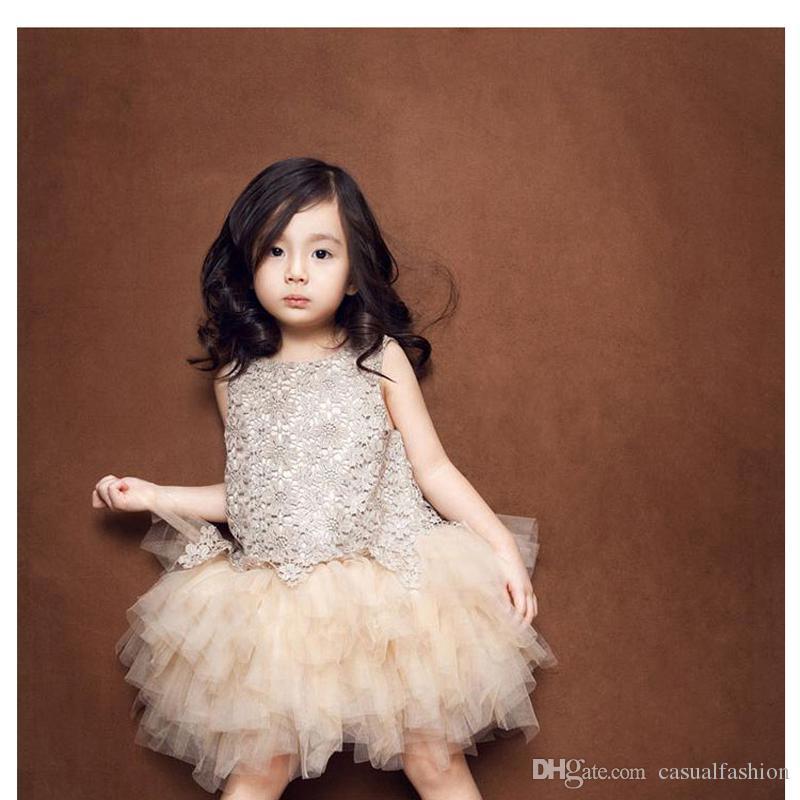 Neueste Blumenmädchenkleider Prinzessin Lovely Girls Pageant Dresses Jewel Wedding Dresses Führen Sie formale heilige Kommunion mit hoher Qualität durch