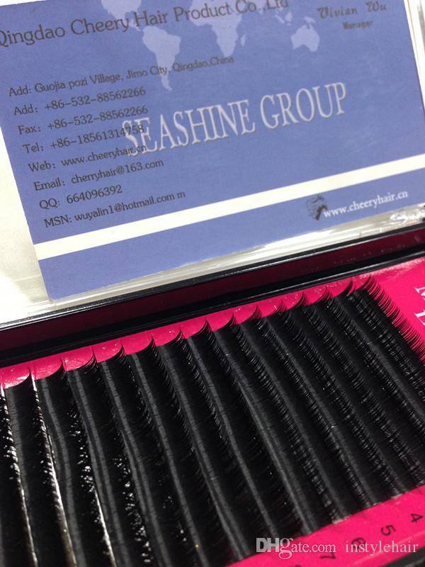 6 صواني فردية eyeLash Extensions 0.15 B C Curl سعر المصنع لاش ملحقات لجمال ماكياج للمحترفين