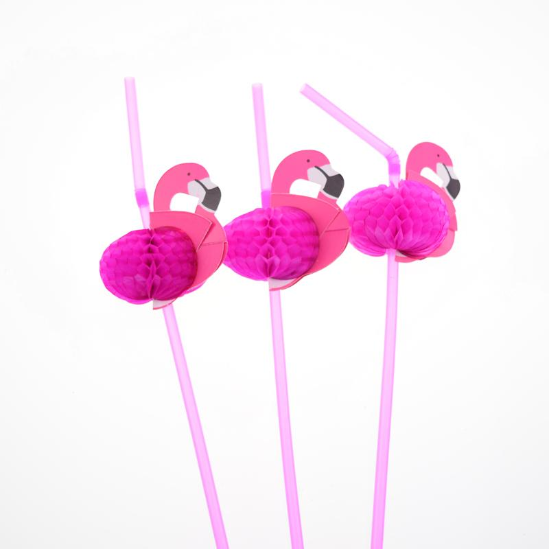 Wholesale- 100pcs/lot Pink on Paper Straws For Kids Birthday Party Wedding Bar Swimming pool Hawaiian Luau Drinking Chevron Straws