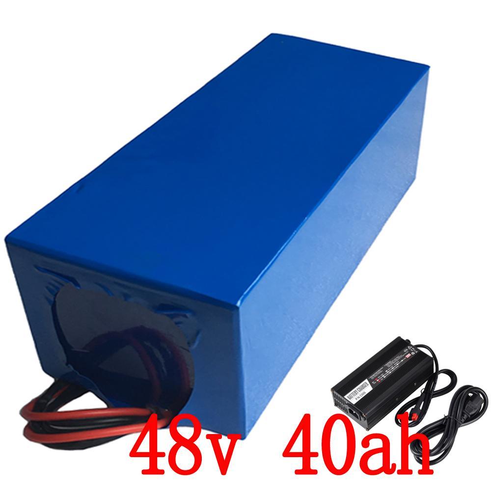 54.6V 충전기 (50A) BMS eBike 배터리 48V 무료 배송과 함께 48V 전기 자전거 드라이브 모터에 대한 2,000w 리튬 48V 40AH 배터리