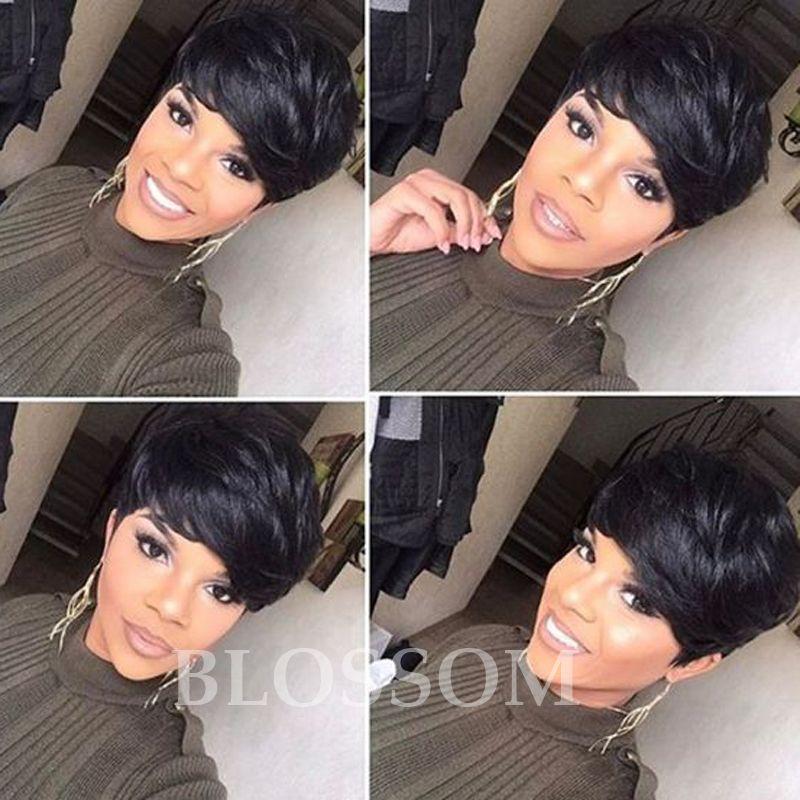 100 Human Hair Bob Glueless None Lace Wigs Brazilian Front Human Short Hair  Wigs Cheap Wigs For Black Women Americans Sleek Wigs Dread Wigs From