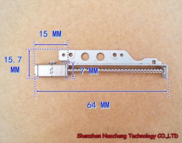 10pcs / lot! 2 상 4 선 5 * 7 * 15mm 3V 5V 마이크로 스테핑 모터 (긴 나사로드 스텝 각 22.5 ~