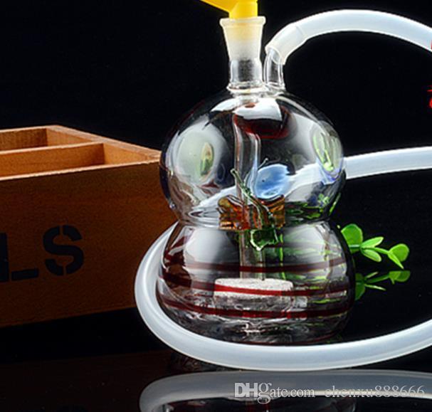 Yeni cam kabak dilsiz filtre Nargile, pot aksesuarları göndermek, cam bong, cam nargile, sigara, renk modelleri rastgele teslim