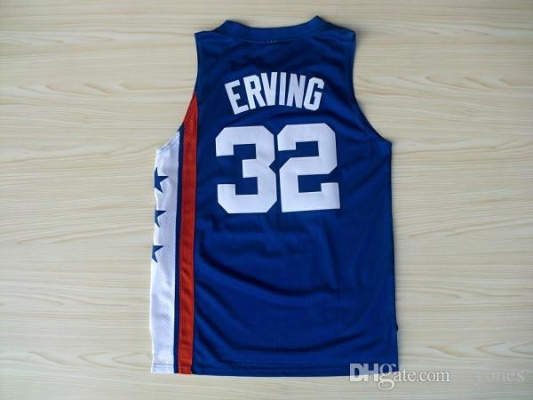 J Stitched NBA Jersey Throwback Julius Erving Basketball Jerseys MENS Retro  6 Dr. J Red Julius . 114f2e6b3
