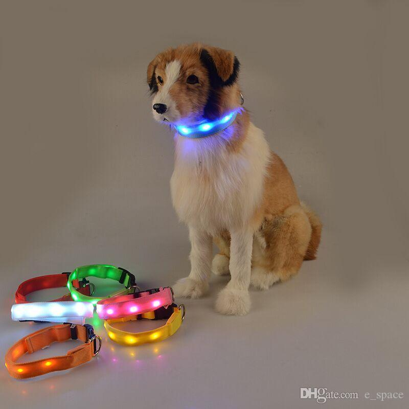 D35 Pet Dog led Collar Pet dog traction supplies light-emitting luminous dog collars free shipping