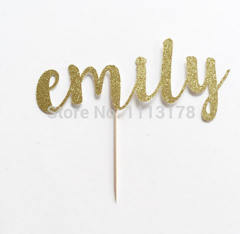 Custom Name Glitter Cake Topper for Birthday, Anniversary and Special Event Cupcake toppers wedding Engagement Party Decoration Festive