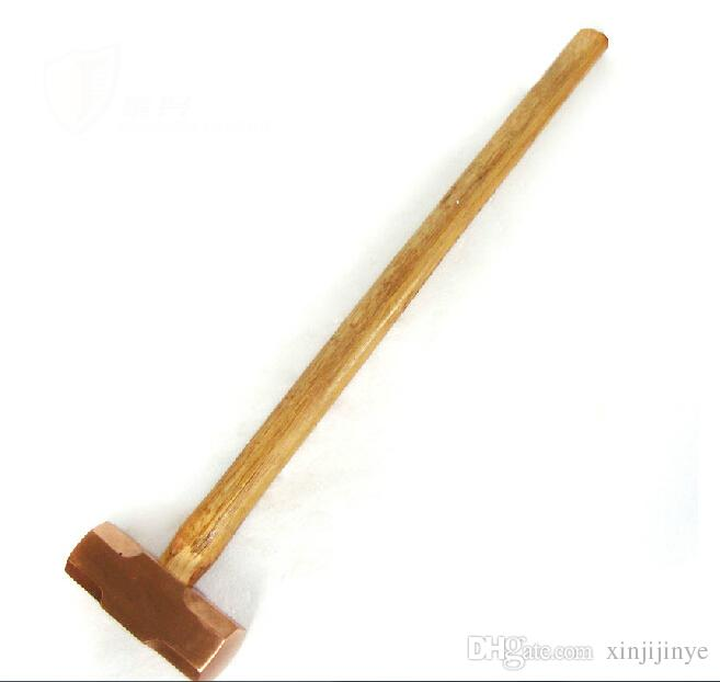 2091 Red Copper Sledge Hammer with wood Handle,Sledging,Non-sparking Safety Tools
