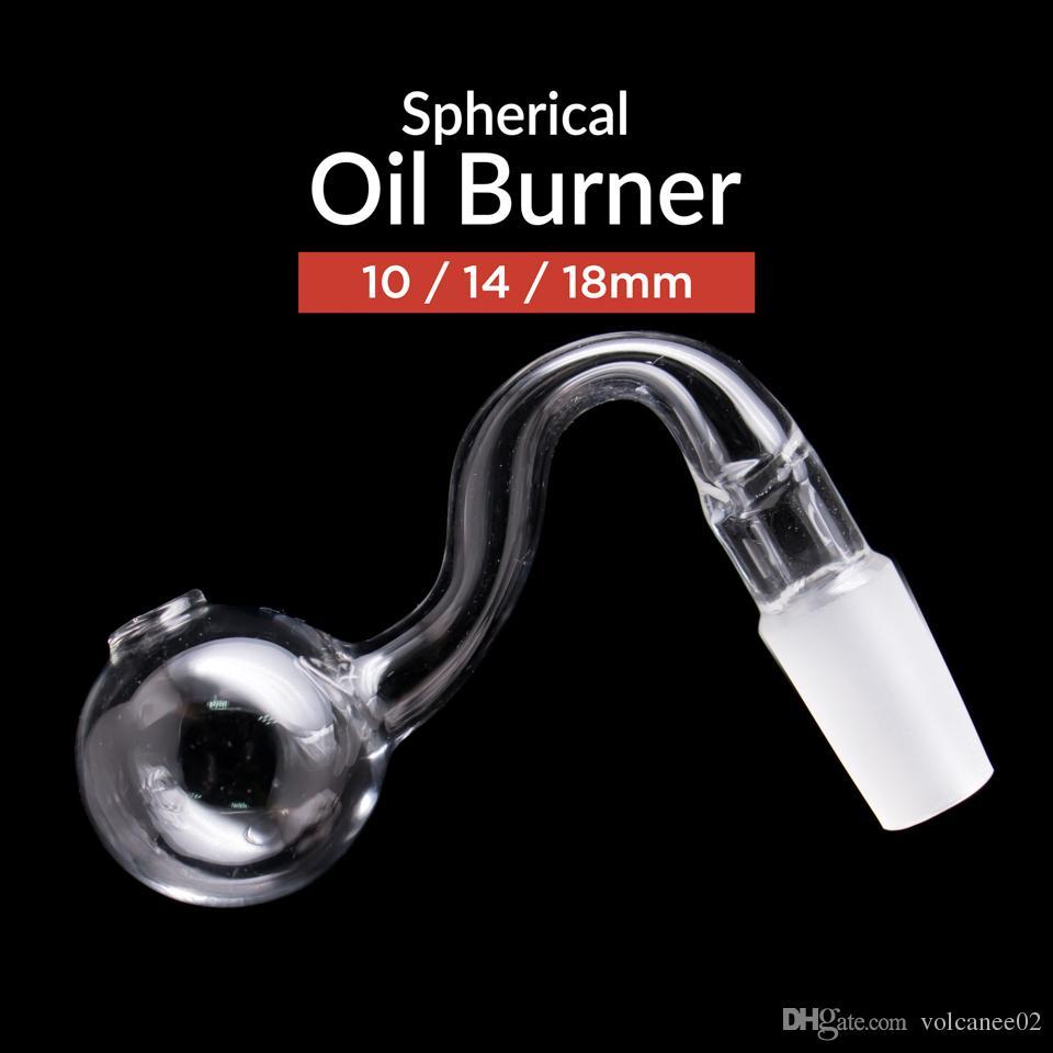 Hookahs Vidrio de aceite quemador de aceite Tubos de fumar Mini tubo Tabaco Hierba Clavos con agua de articulación transparente Bong