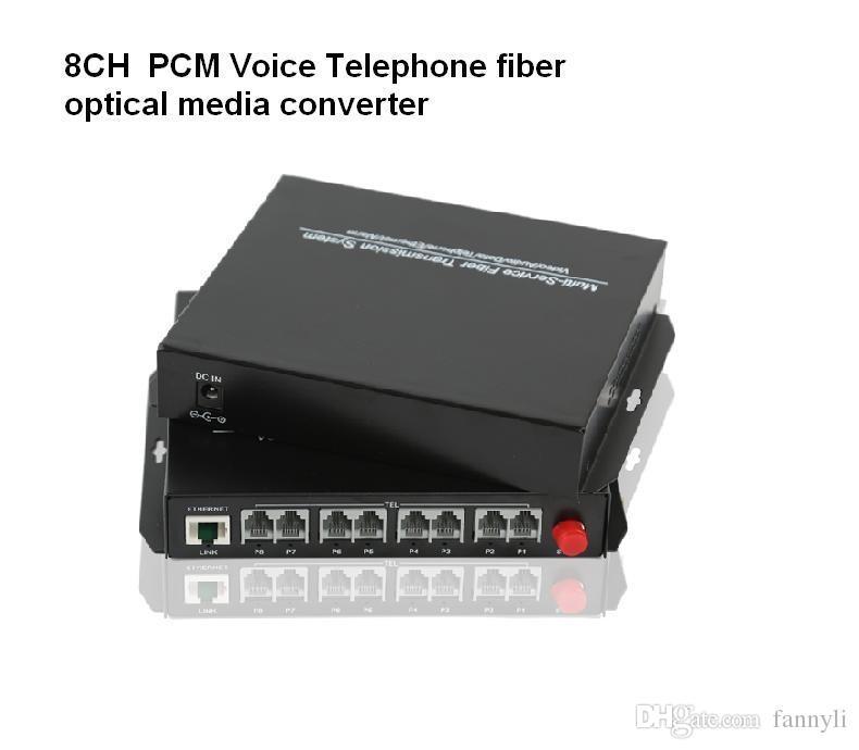 Haute qualité 2 canaux 4CH 8CH PCM voix téléphone fibre optique convertisseur de médias avec Ethernet 1Pair -FC monomode 20Km