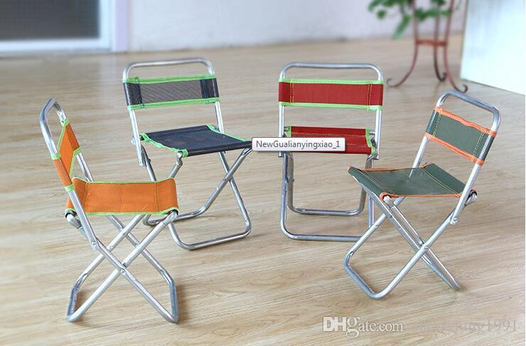 alta calidad porttil plegable pesca al aire libre de silla de silla de aluminio con respaldo