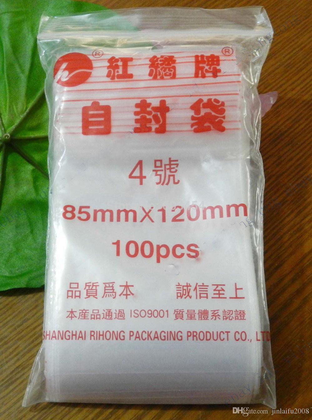 """a buon mercato 100 3.3 """"x4.7"""" Borse serratura della chiusura lampo libera all'ingrosso Poli sacchetto richiudibile 100 Piccole Baggies plastica"""