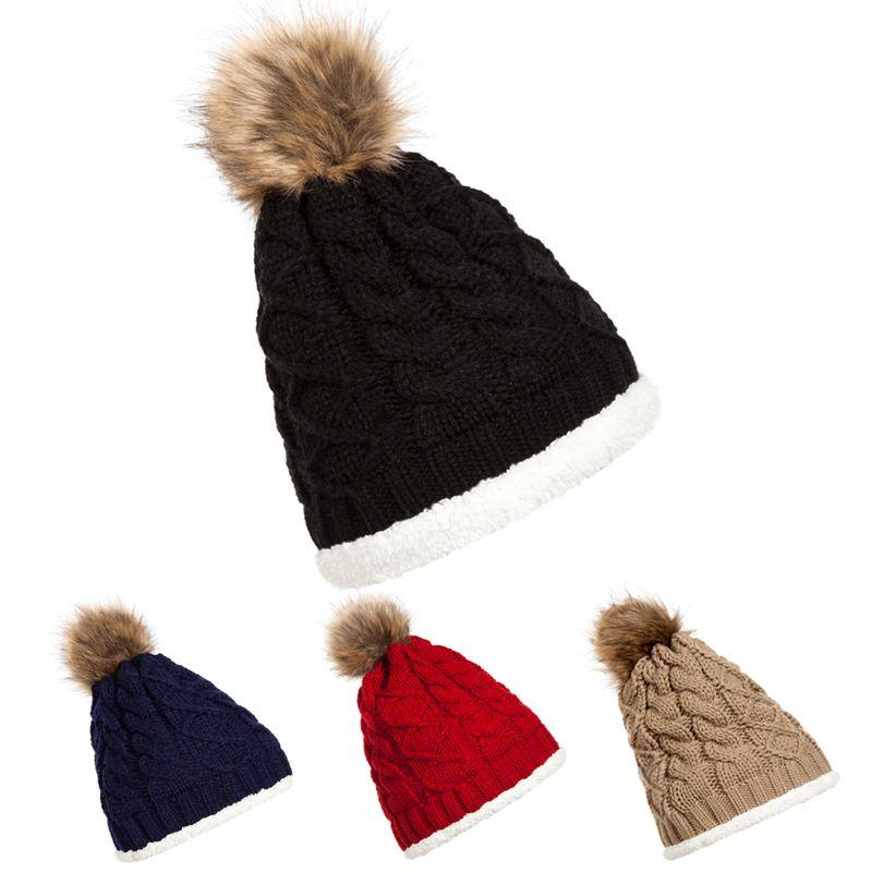 2015 Warm Winter Women Beanie Hat Top Sell Oversize Slouchy Baggy Knit Ski Cap 4 Colors DM#6