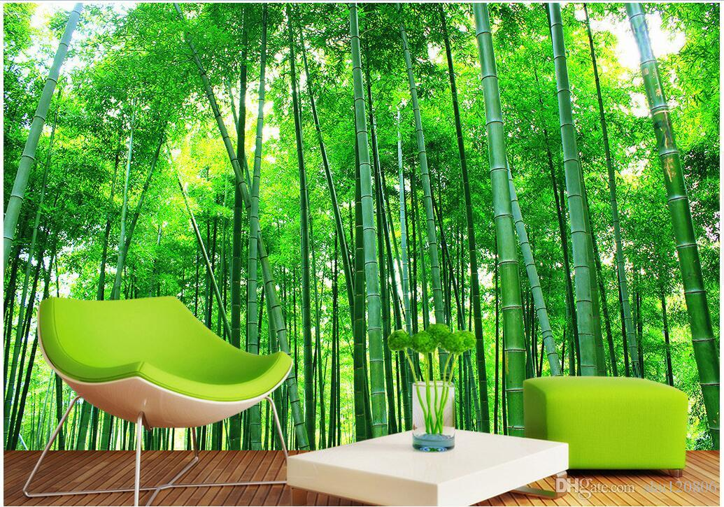 3d Room Wallpaper Landscape Custom Photo Mural Bamboo Scenery Home