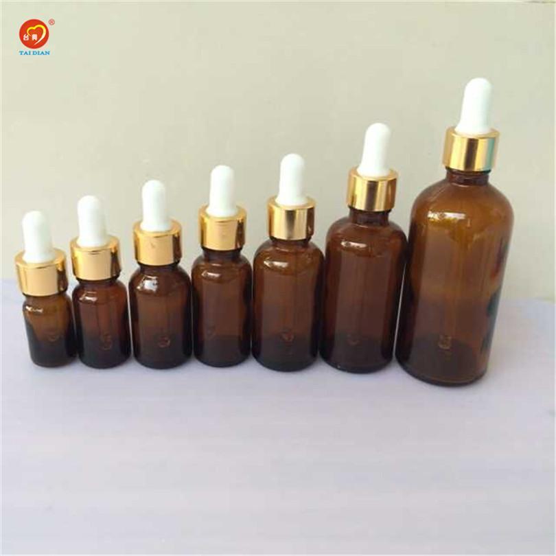 5 ml 10 ml 15 ml 20 ml 30 ml 50 ml 100 ml de vidro conta-gotas com Pipeta âmbar vazio Esssentail garrafas de óleo frascos de líquido frascos 24pcs